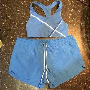 Oldnavy blue/white activewear two piece set